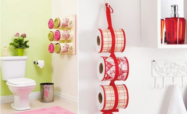 Bathroom Storage Ideas Tin Can Towel Holders 1