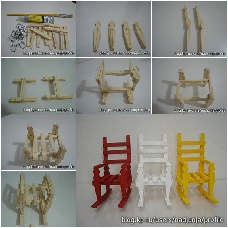 How to build clothespin rocking chair step by step diy for How to build a house step by step instructions
