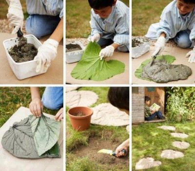 How to build lovely leaf yard steps step by step DIY tutorial instructions