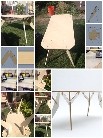 How to build your own artistic y parametric table step by for Instructions on how to build a table