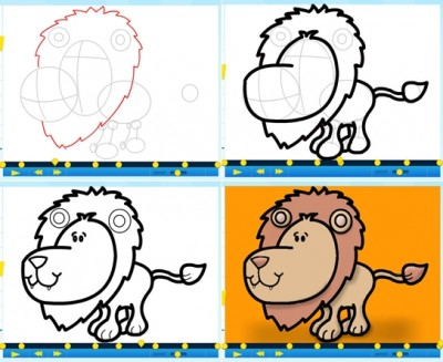 How to draw a graffiti lion step by step DIY instructions