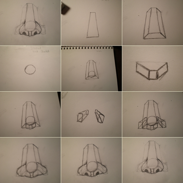 How to draw a nose step by step diy instructions thumb how to