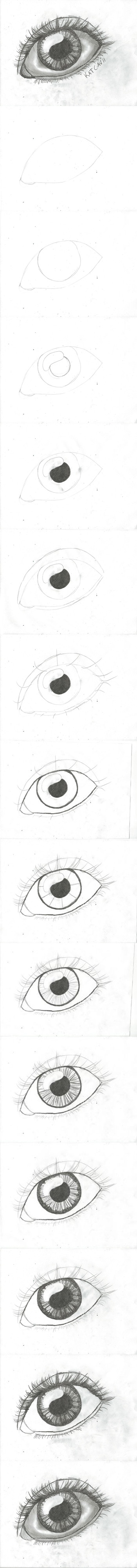 How to draw an eye step by step DIY instructions