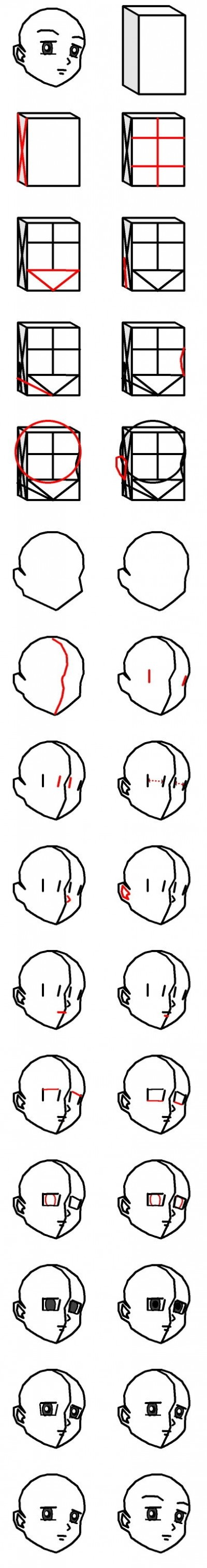 How to draw anime step by step DIY instructions