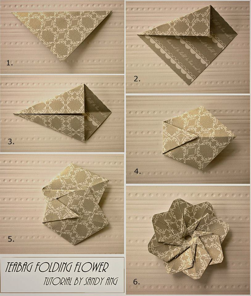 Paper flower how to instructions part 2 how to fold paper teabag flower step by step diy instructions mightylinksfo