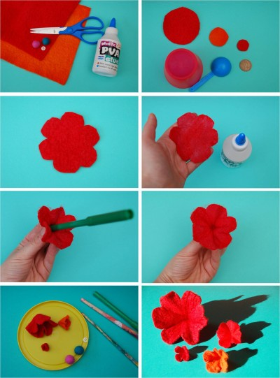 How to make 3D flowers step by step DIY instructions