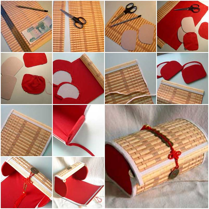 How to make Bamboo Placemat Box step by step DIY instructions thumb