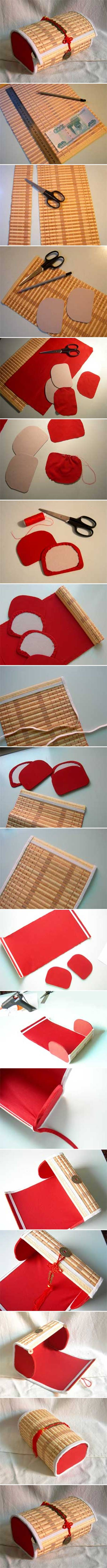 How to make Bamboo Placemat Box step by step DIY instructions