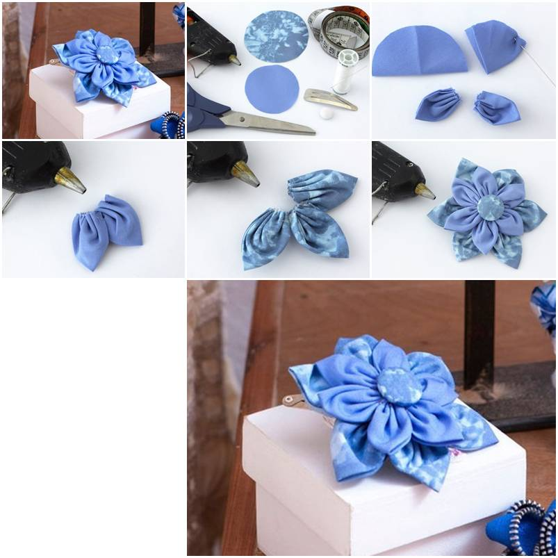 How to make beautiful cloth flower step by step diy for Step by step to build a house yourself