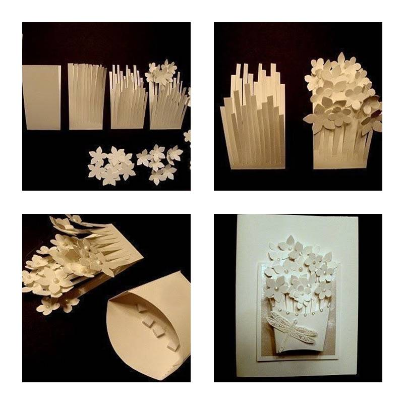 How To Make Flower Basket From Paper : How to make a basket of flower card step by diy