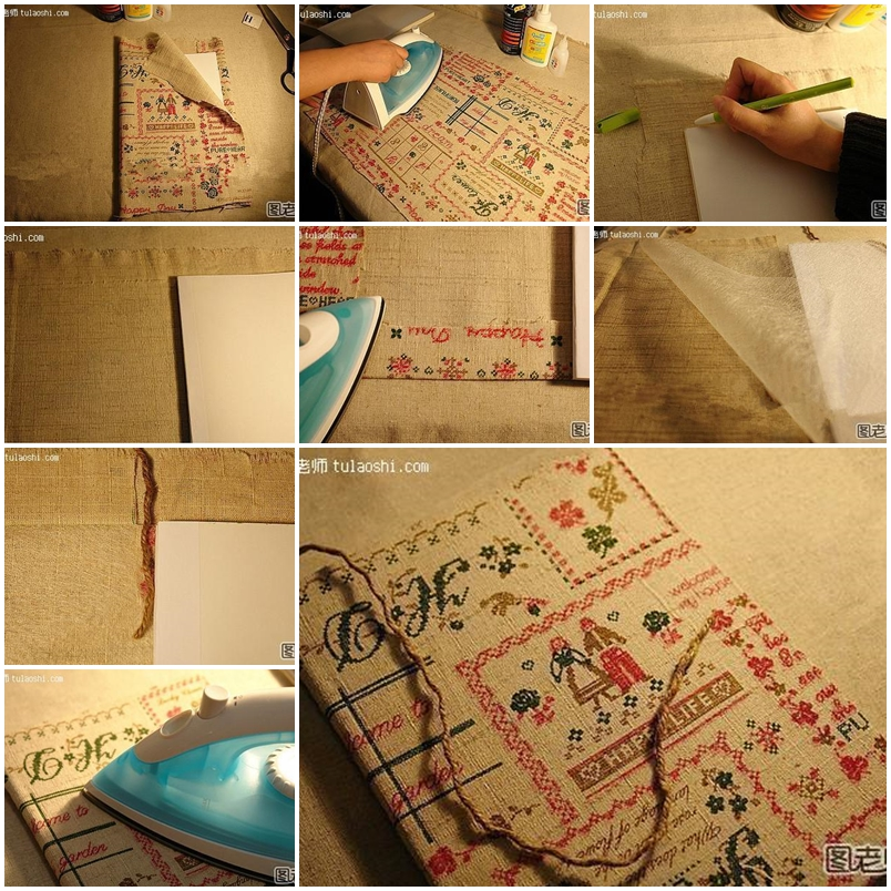 How To Make Book Cover Diy : How to make classical book cover step by diy