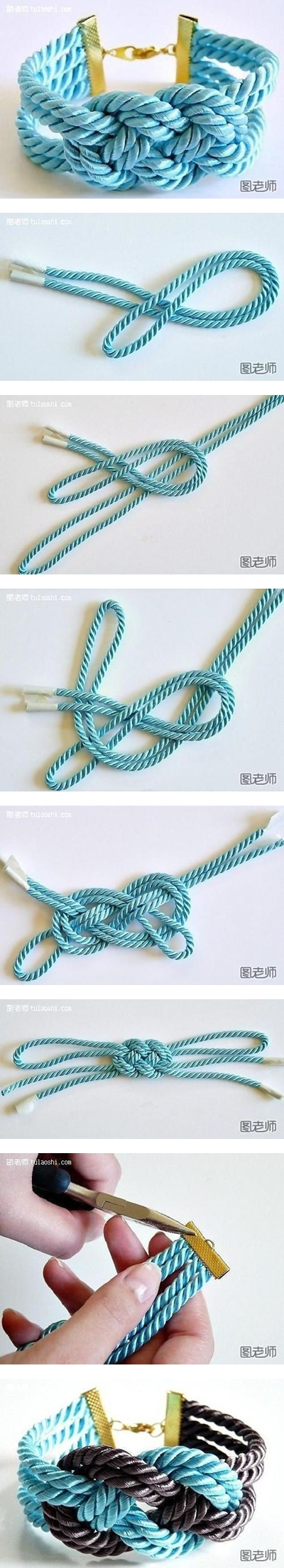 How to make colorful string bracelet step by step DIY instructions