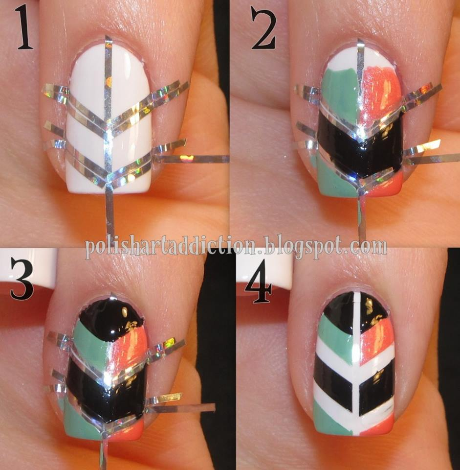 How To Make Cool Shield Nail Art Step By Step Diy Instructions How To Instructions