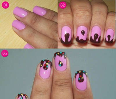 How to make lady bug nail art step by step DIY instructions