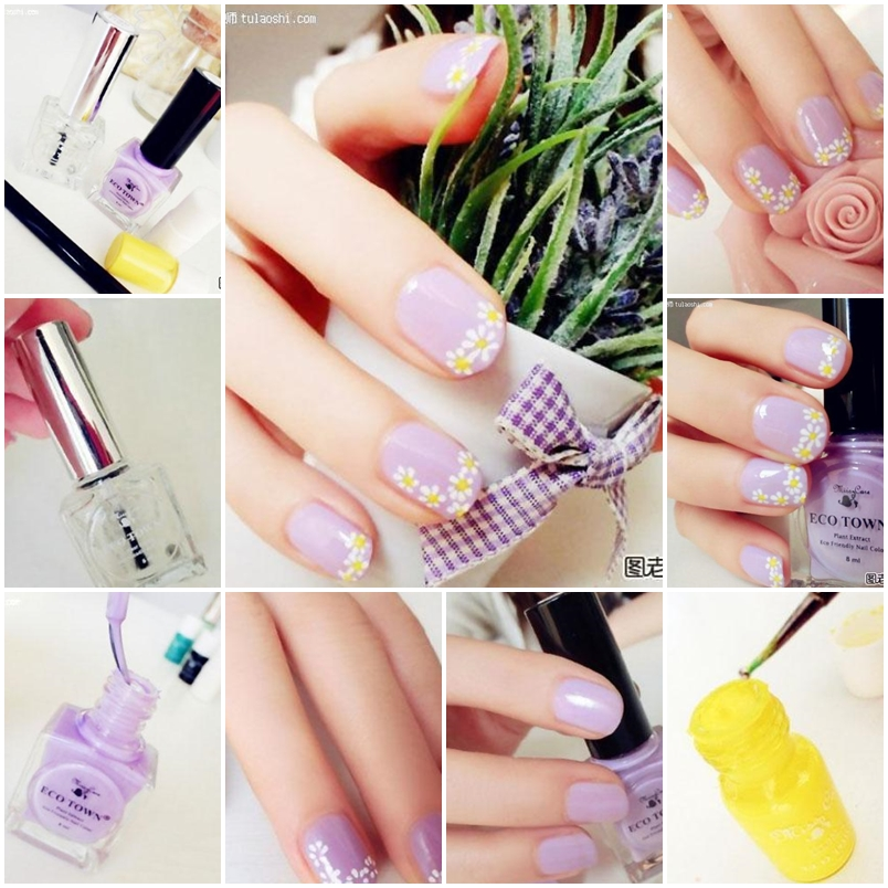 How To Make Lovely Daisy Nail Art Step By Step Diy Instructions Thumb How To Instructions