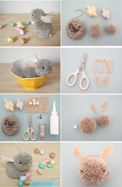 How to make lovely fabric ball bunny step by step DIY instructions