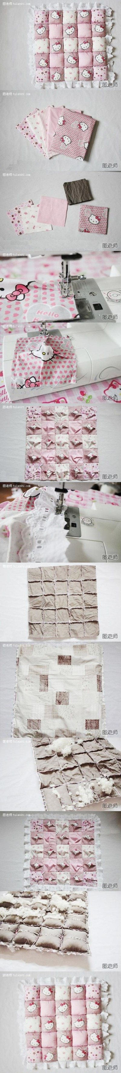 How to make lovely pillow step by step DIY instructions