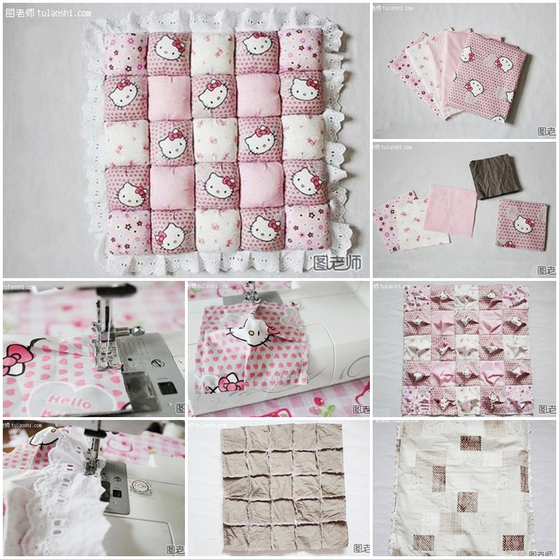 how to make a patchwork pillow step by step