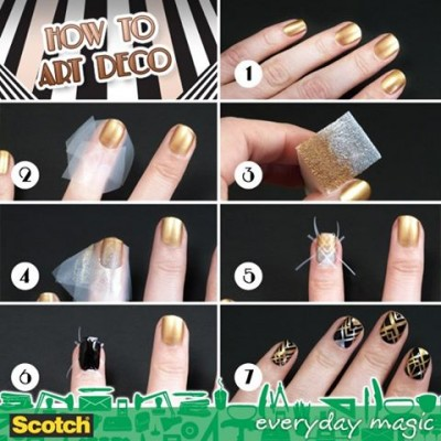 How to make nail art deco step by step DIY instructions