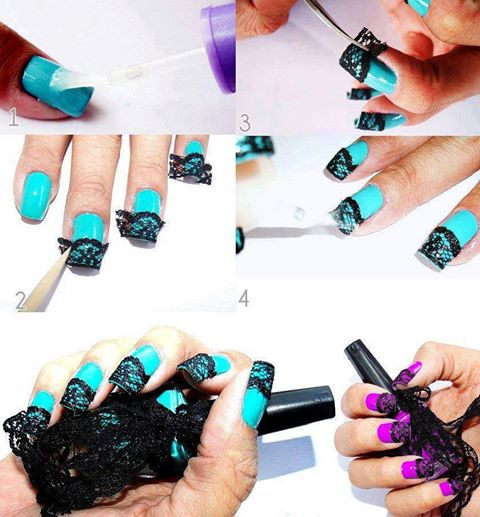 How To Make Nail Art Net Step By Step Diy Instructions How To Instructions