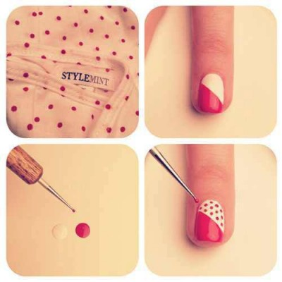 How to make nail art spots step by step DIY instructions