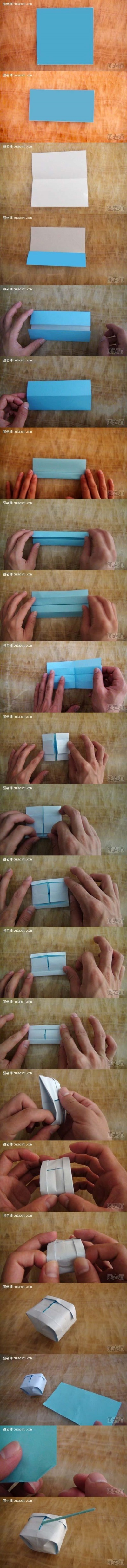 How to make origami tank toy step by step DIY instructions