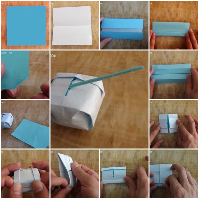 How to make origami tank toy step by step diy instructions for How to build a house step by step instructions