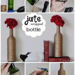How to make special flower vase with recycled bottle step by step DIY instructions thumb