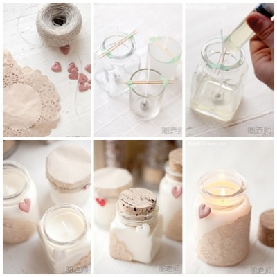How to make unique romatic candle step by step DIY instructions