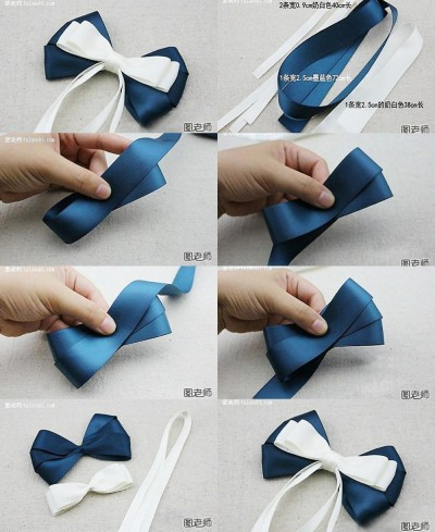 How to make your own beautiful bow hairpin step by step DIY instructions
