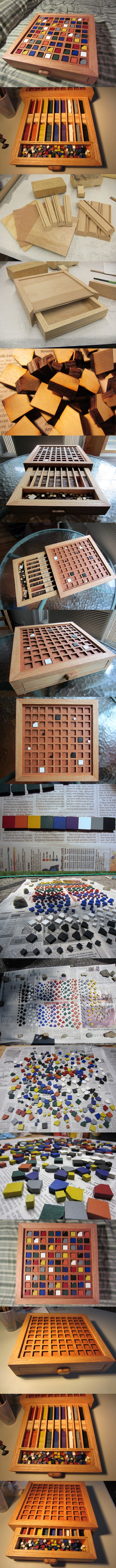 How to make your own cool color based wooden sudoku board step by step DIY instructions