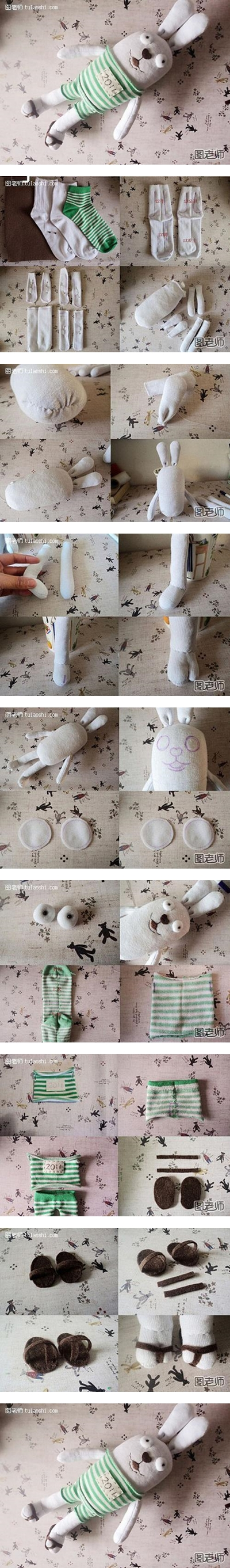 How to make your own stuffed bunny toy step by step DIY instructions
