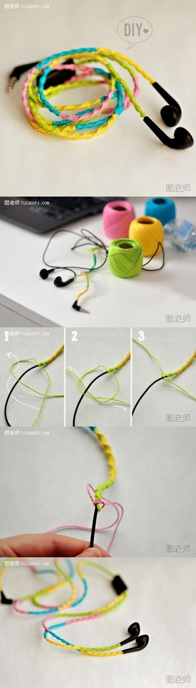 How to make your own unique colorful ear plug decoration step by step DIY instructions