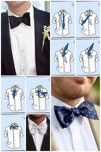 How to tie a bow tie step by step DIY instructions