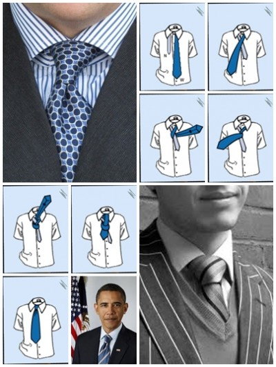How to tie a tie four in hand knot step by step DIY instructions