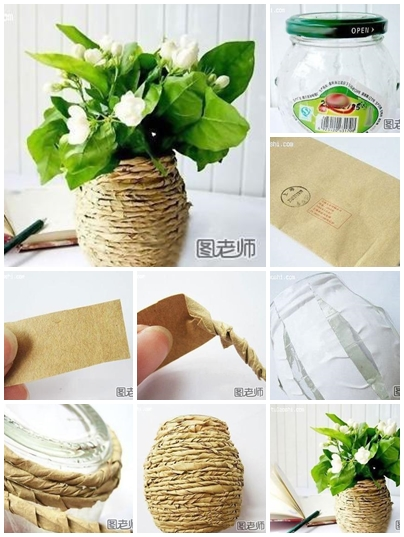 How to use recycled material to make flower vase step by
