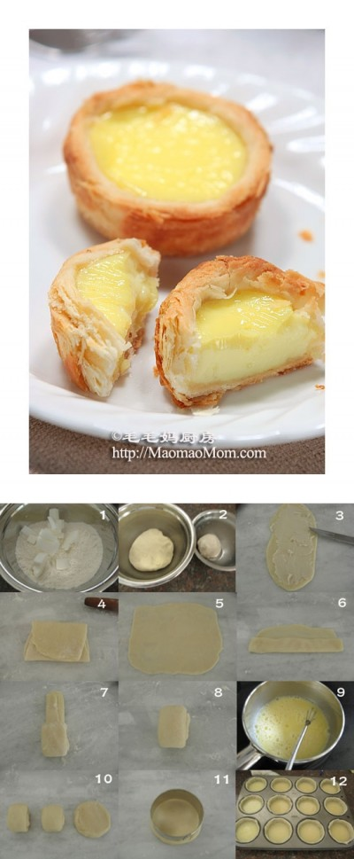 how to make Crisp egg tarts step by step DIY instructions