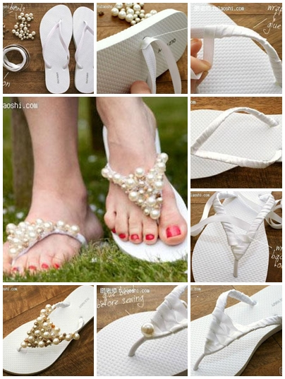 How to make unique bohemia splint beads slippers step by for How to make a home decorations