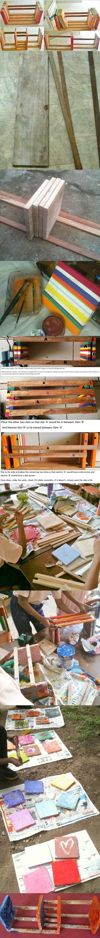 how to make your own adjustable table top book rack step by step DIY instructions