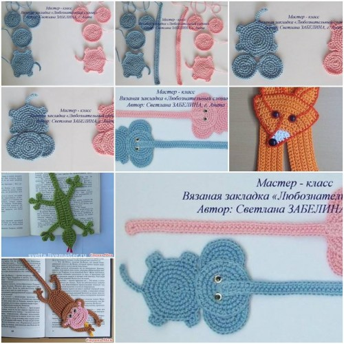 How To Crochet Elephant Bookmark step by step DIY tutorial instructions thumb