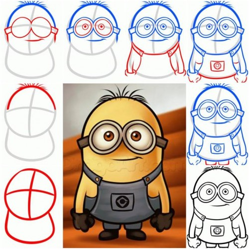 How To Draw a Minion from Despicable Me step by step DIY tutorial instructions thumb