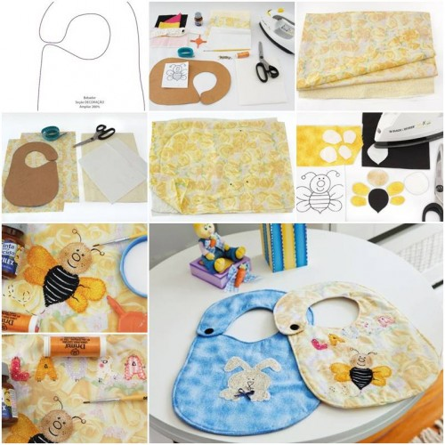 How To Make Baby Bibs step by step DIY tutorial instructions thumb