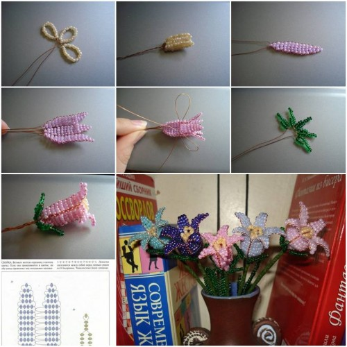 How To Make Beads Bell Flower step by step DIY tutorial instructions thumb