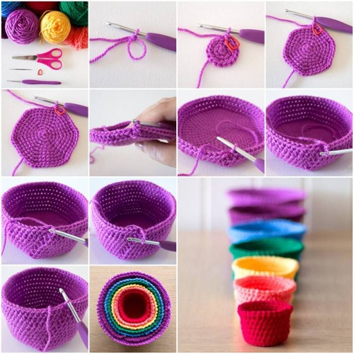 How To Make Beautiful Crochet Cups step by step DIY tutorial instructions thumb