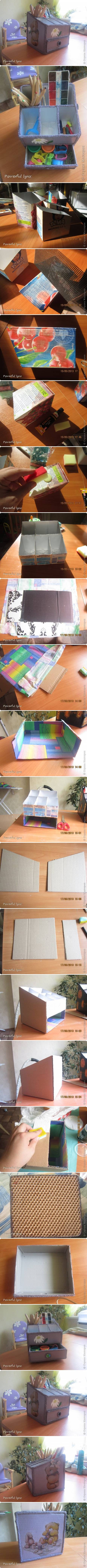 How To Make Beautiful Desk Organizer step by step DIY tutorial instructions