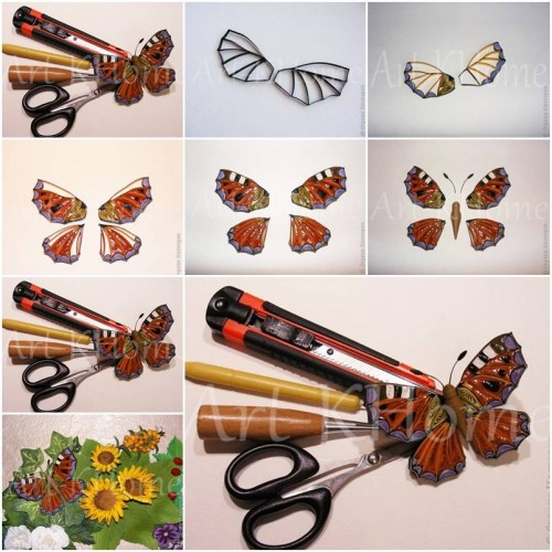 How To Make Beautiful Quilled Butterfly step by step DIY tutorial instructions thumb