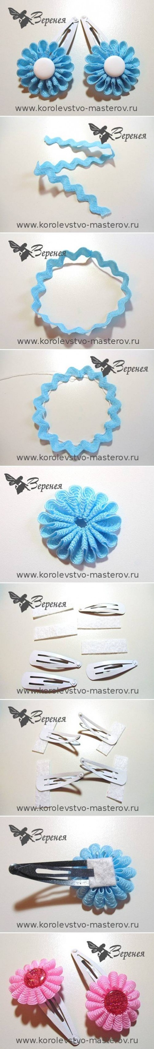 How To Make Braid Flower step by step DIY tutorial instructions