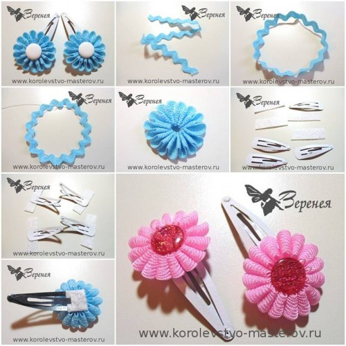 How To Make Braid Flower step by step DIY tutorial instructions thumb