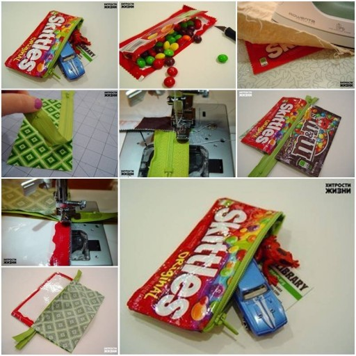 How To Make Candy Wrap Pencil Case step by step DIY tutorial instructions thumb