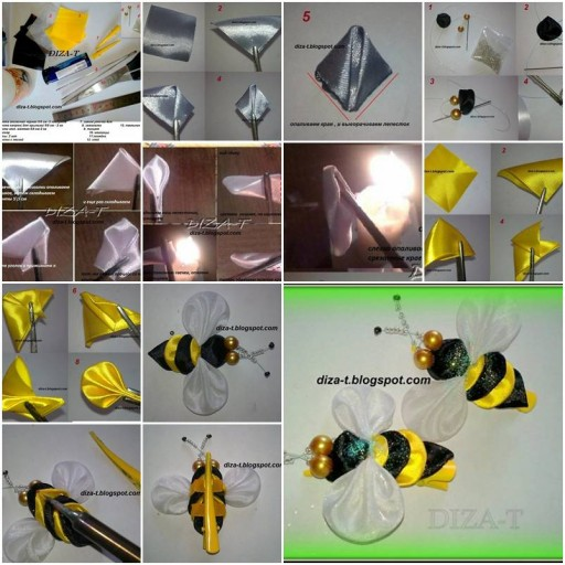How To Make Clip Bee step by step DIY tutorial instructions thumb